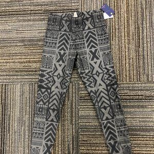 Vigoss Blue/Gray Aztec Printed Suede Leggings